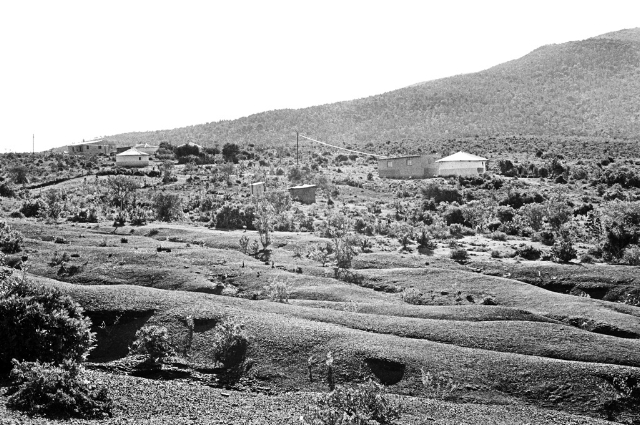 The fruits of dispossession. Soil erosion due to over-crowding and over grazing in KwaNdhlambe Village. Peddie. Eastern Cape. 2012.