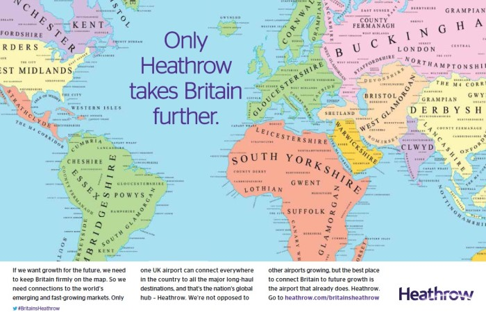 Heathrow Airport Maps The World And It Still Belongs To Britain